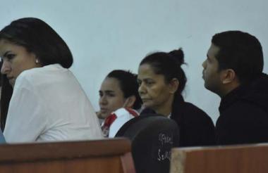 Aspecto de una de las audiencias a los procesados
