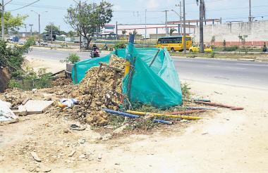 El ataque ocurrió en este lugar del barrio Santa María, donde la víctima y su asesino trabajaban en la canalización de un arroyo.