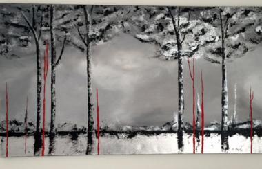 Pintura de la artista barranquillera Martha Mafiol, que será exhibida en Milán.