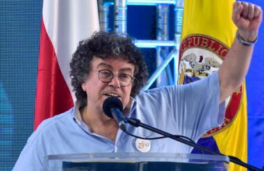 Piero durante su visita ayer en Barranquilla.