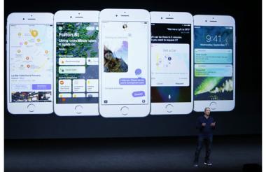 El CEO de Apple, Tim Cook, durante la presentación del iPhone 7.