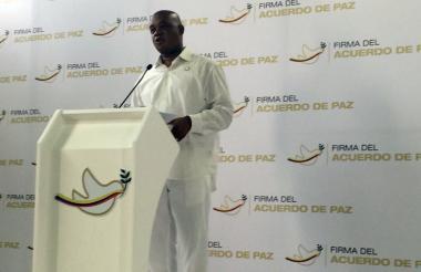 Ministro de Ambiente y Desarrollo Sostenible, Luis Gilberto Murillo durante el anuncio.