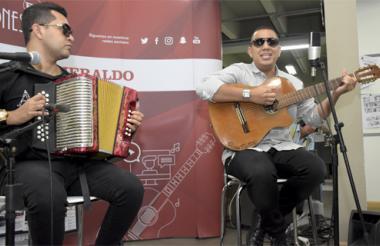 Manuel Julián y Pipe Peláez en su paso por #SesionesEH de EL HERALDO.
