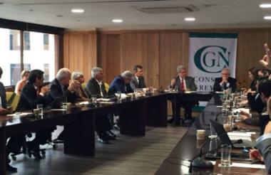 Foto de la reunión de los líderes del Consejo Gremial Nacional, realizada este lunes.