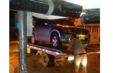La camioneta Suzuki fue inmovilizada.