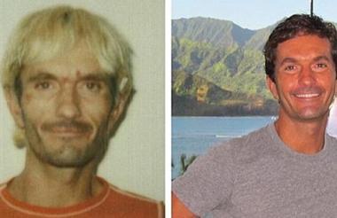 La transformación de Khalik Rafati luego de dejar las drogas (a la derecha).
