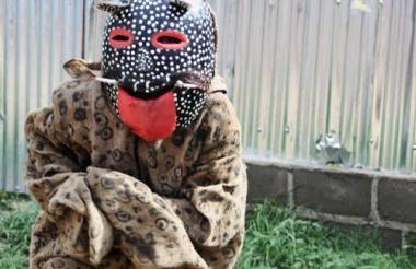 Este es el disfraz tradicional usado en Sincé.