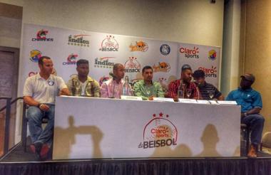 Lanzamiento de la Liga de Béisbol Colombiano.