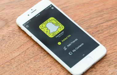 La red social Snapchat.