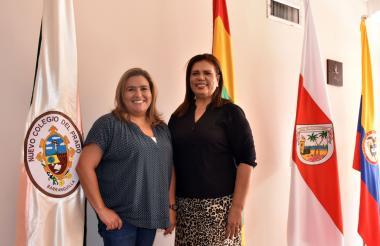 Ana Elvira Oeding, subdirectora académica y Manuelita Orozco, rectora de la institución.