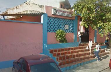 Fachada la Institución Educativa Distrital Alexander Von Humboldt, en Barranquilla.