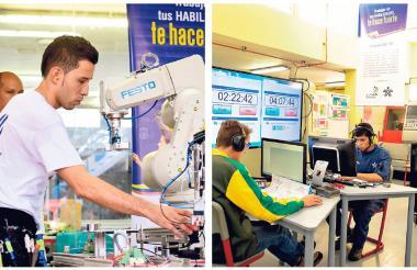 Jóvenes estudiantes de programas técnicos del Sena, en los diferentes centros de formación que la institución tiene en el departamento del Atlántico.