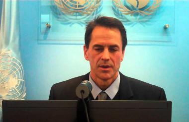 Todd Howland, alto comisionado de las Naciones Unidas para los Derechos Humanos en Colombia.