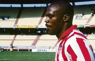 Perea en su época como jugador del Junior.