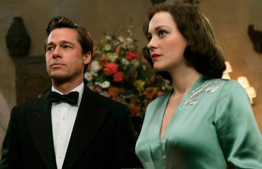 Los actores, en una de las escenas de la película.