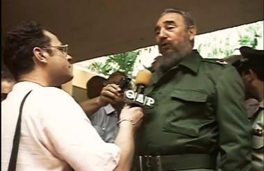 Imagen de la entrevista con Castro en Cartagena.