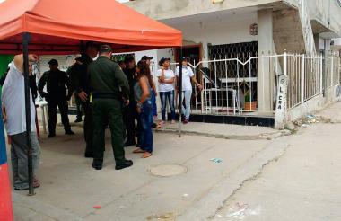 Lugar donde se desarrollaba la brigada de salud en el barrio Villa San Pedro.