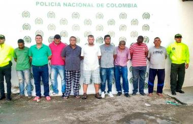 Grupo de capturados.