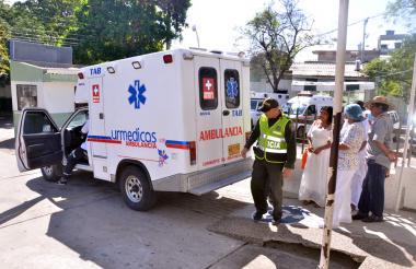 Traslado del niño de un año que debía ser internado de urgencia en una unidad de cuidados intensivos.