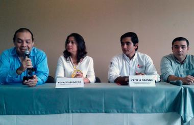 Jaime Blanco, Rosmery Quintero, Jaime Giraldo y José Luis Polo.