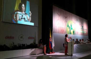 María del Rosario Guerra en el Congreso de Fedegán.
