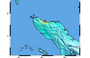 El mapa muestra el epicentro del temblor.