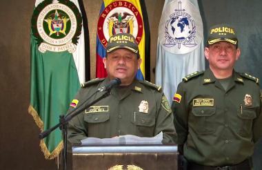 El director nacional de la Policía, el General Jorge Hernando Nieto.