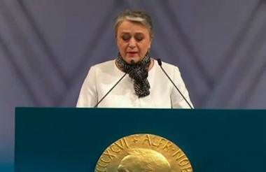 Berit Reiss, vicepresidenta del Premio Nobel.