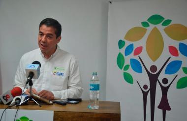 Ricardo Sabogal, durante su visita a la Unidad Territorial en Córdoba.