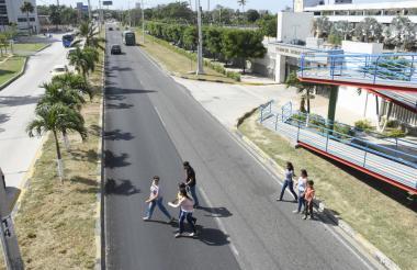 Corredor Universitario a la altura del Colegio Sagrado Corazón vía Puerto.