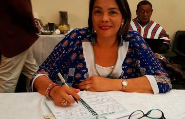 Hilduara Barliza miembro de la Mesa de Concertación Wayuu.