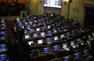 Un aspecto de la sesión del Congreso celebrada este miércoles, para dar trámite al proyecto de Reforma Tributaria.