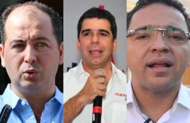 De izquierda a derecha: los alcaldes Marcos Daniel Pineda (Montería), Alejandro Char (Barranquilla) y Rafael Martínez (Santa Marta).