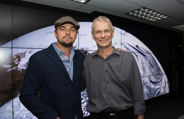 Leonardo DiCaprio y Piers Sellers.