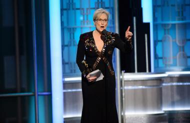 Meryl Streep en su discurso tras recibir el premio honorífico en los Globos de Oro 2017.