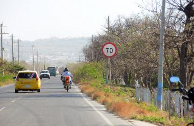 Lugar de la vía en Juan Mina donde hallaron el cuerpo.