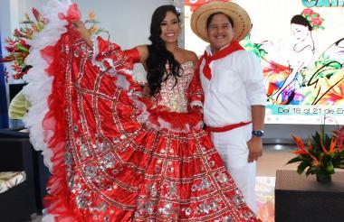 La reina Norma Durán y el rey 'Beto' Miranda son los soberanos del Festival del Caimán 2017.