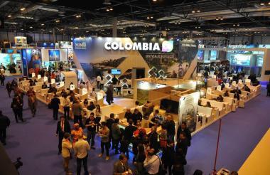 Stand de Colombia durante la Feria Internacional de Turismo realizada en el 2016.