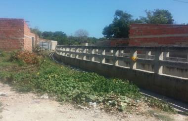 Sector del barrio El Bosque donde fue hallado el cuerpo a las 6 de la mañana.