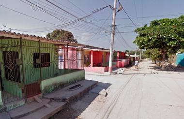 Aspecto del barrio San Antonio en Malambo.