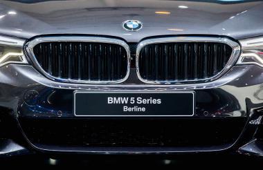 El fabricante de automóviles BMW exhibió su nuevo modelo BMW 5 Series Berline durante la inauguración del Salón del Automóvil de Bruselas, Bélgica.