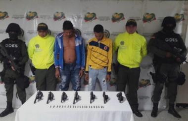 Los hermanos Acosta Yepes el día de sus capturas.