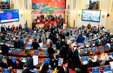 Salón elíptico del Congreso de la República.