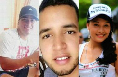 De izquiera a derecha: Sergio Luis Urueta Cantillo, Jean Carlos Jaramillo Pedroza y Wendy Arrieta Padilla.