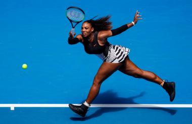 La estadounidense Serena Williams en su partido contra la suiza Belinda Bencic.
