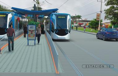 Imagen digital de la que sería una de las estaciones del anunciado sistema.