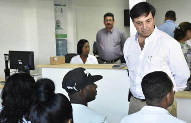 Juan Carlos Galindo, en la nueva sede de la Registraduría en el sector El Espinal.