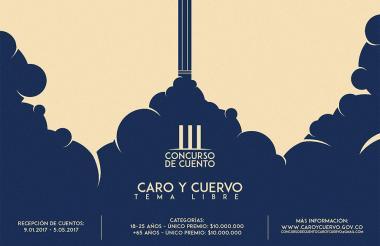 Imagen oficial del Concurso de Cuento Caro y Cuervo.