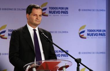 Sergio Jaramillo, alto comisionado para la paz.