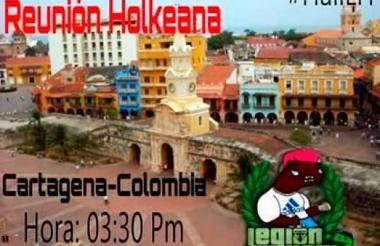 Imagen que está circulando en las redes sociales de la supuesta convocatoria para reunirse en Cartagena.